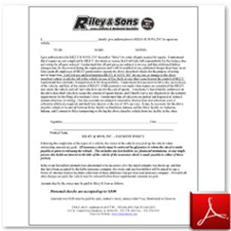 online forms riley amp sons collision repair