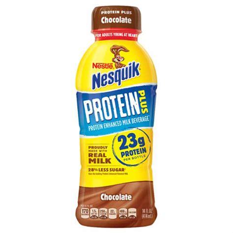 p protein milk nestle nesquik protein plus chocolate flavored milk pack