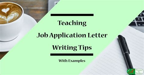 teaching job application letter writing tips examples