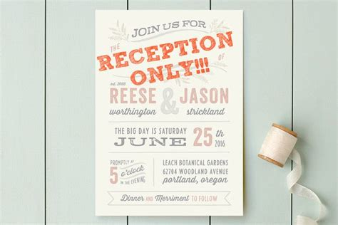 wedding etiquette invitation to reception only reception card wording for hors d oeuvre reception topweddingquestions