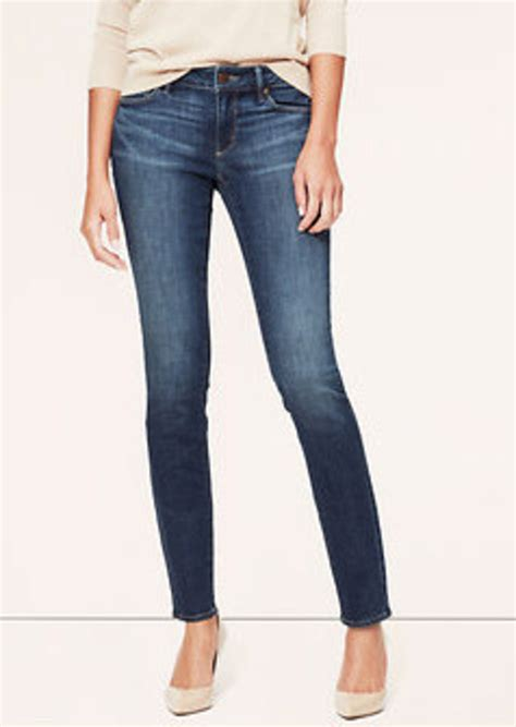 curvy en jeans loft tall curvy skinny jeans in scale blue wash denim