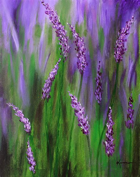 lavender paint lavender garden painting by kume bryant