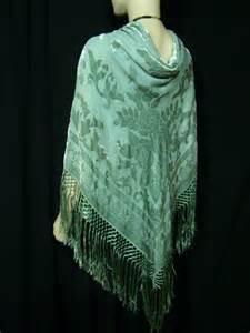 Laris Pashmina Velvet Cutting turquoise silk scarf piano shawl wrap cut velvet new ebay