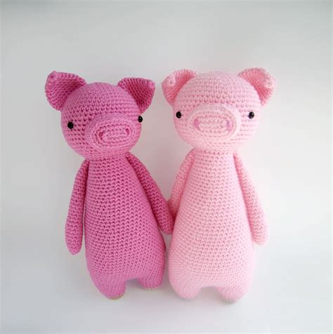 pattern crochet pig tall pig with backpack amigurumi pattern by little bear