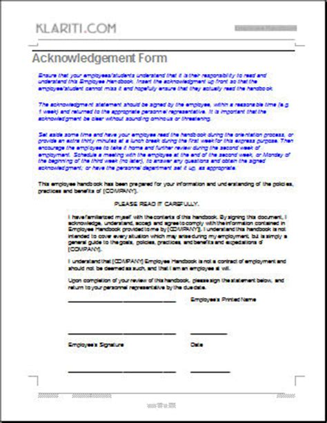 personnel manual template employee handbook template instant