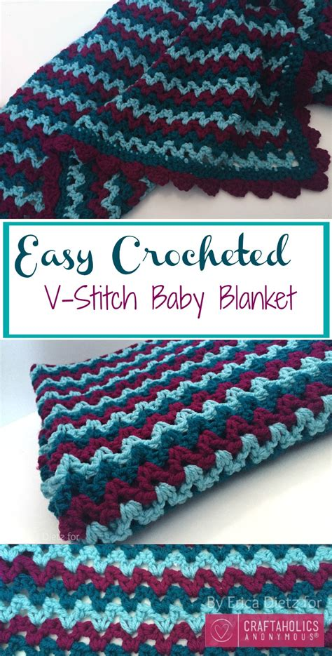 Easiest Way To Crochet A Blanket by Craftaholics Anonymous 174 Easy Crochet Baby Blanket