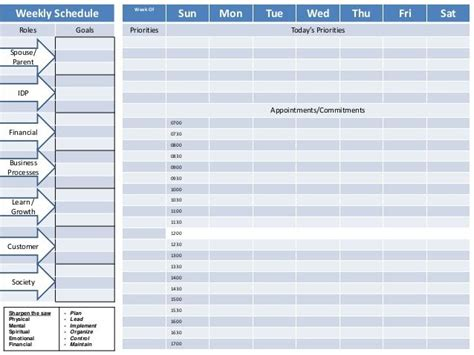 7 habits printable weekly planner weekly planner 7 habits google search time management