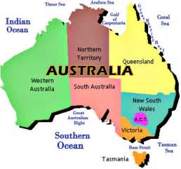 Map Of Australian States by Australia A Land Down Under About Australia