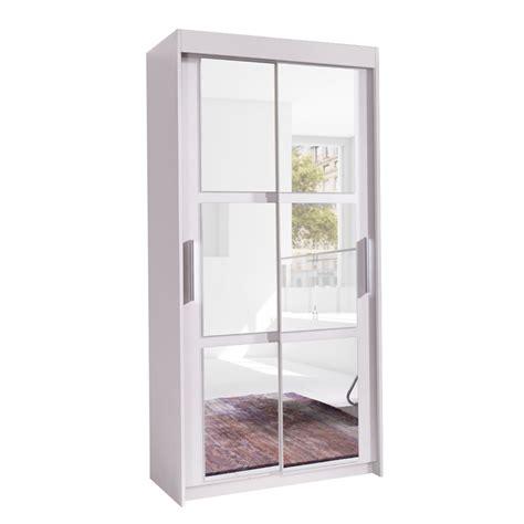 weißer kleiderschrank mit spiegel kleiderschrank baron 100 mit spiegel mirjan24