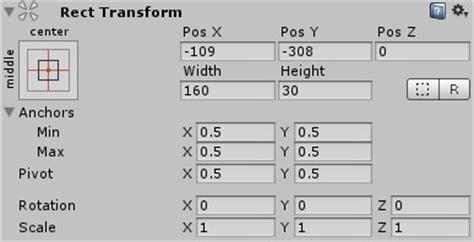 unity layout flexible width unity manual basic layout
