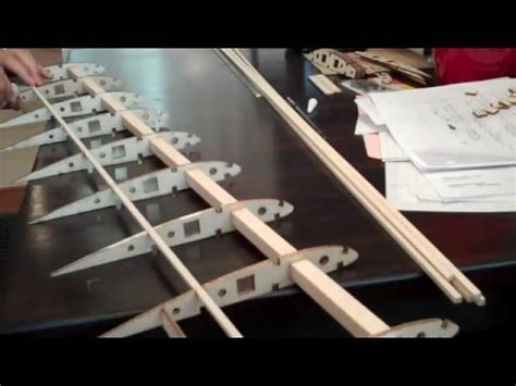 building  airplane wing balsa wood  rc plane youtube