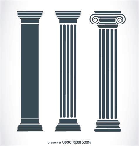 Grecian Columns Ancient Pillars Vector