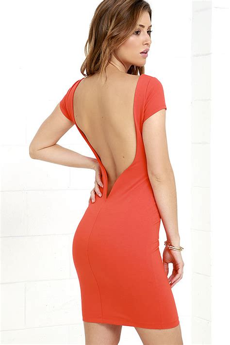 Daring Backless Dresses by Daring Dame Coral Dress Backless Dress