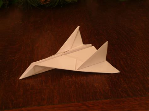 Paper Aeroplane Folding - paper aeroplane thunder bomber 4 steps