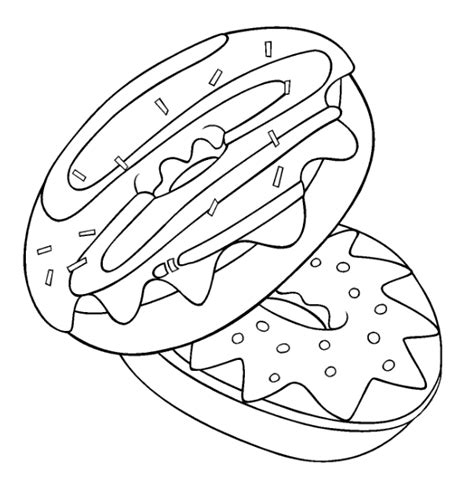 Donut Coloring Pages Donuts Coloring Pages
