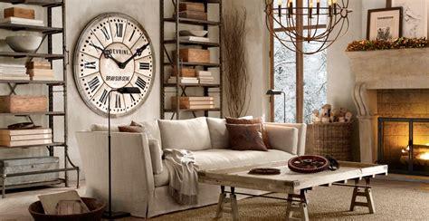 industrial chic living room restoration hardware furniture bossy color elliott