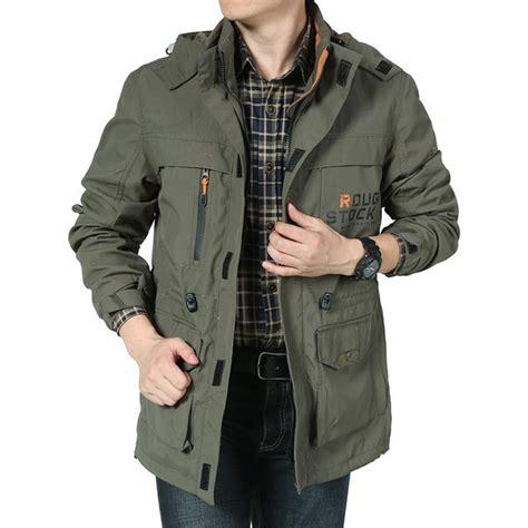 Promo Bomber Jacket Premium Army Waterproof 2018 brand clothing bomber jacket army jacket army green multi pocket waterproof jacket