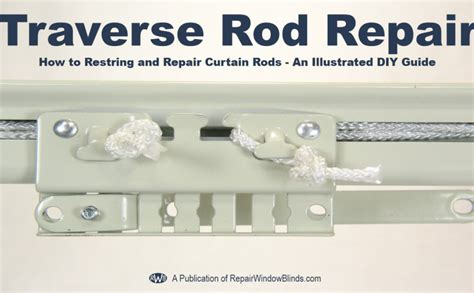 how to restring a curtain rod how to restring a drapery traverse rod repair window blinds