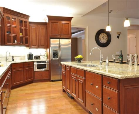 Decorating Ideas For Kitchen With Cherry Cabinets Dazzling Cherry Cabinets Technique Dc Metro Traditional