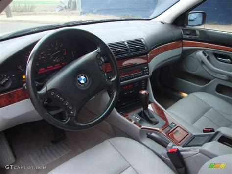 grey interior 2002 bmw 5 series 530i sedan photo 58444653