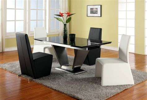Marble Top Dining Room Sets by Extendable Rectangular Marble Leather Five Piece Modern