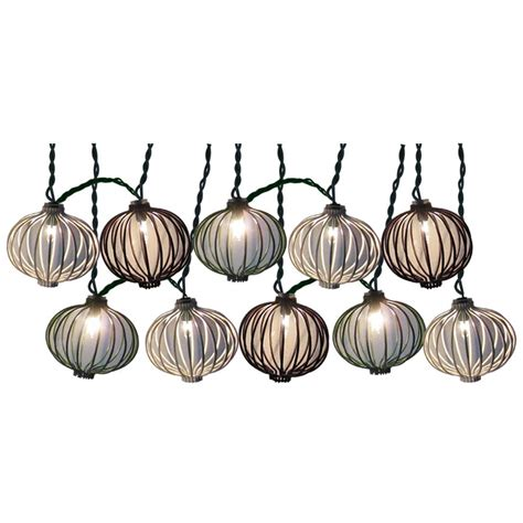 Patio String Lights Lowes Shop Style Selections 7 8 Ft Multicolor Mini Bulb Lantern Patio String Lights At Lowes
