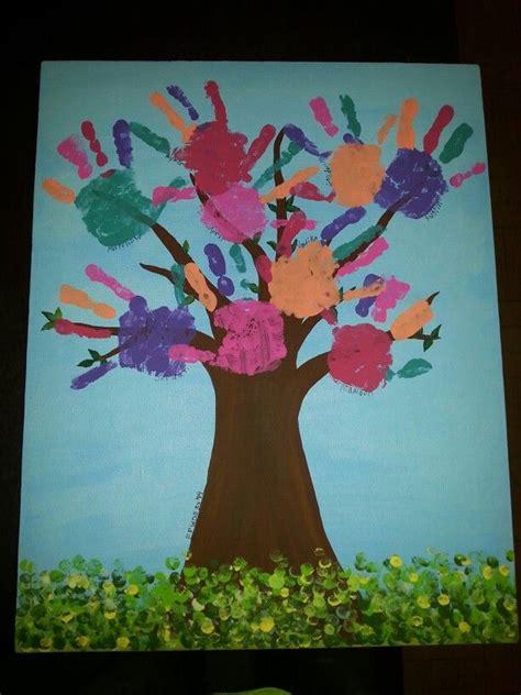 friendship tree preschool collaborative art palm tree