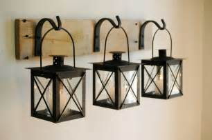 Wooden Home Decor Items Black Lantern Trio Wall Decor Home Decor Rustic Decor