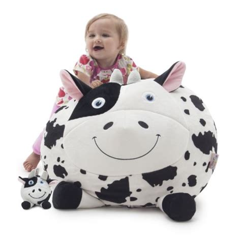 cow print baby bean bag cow baby nursery decor