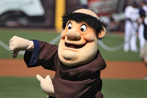 padres swinging friar mlb mascots make no sense mlb reports