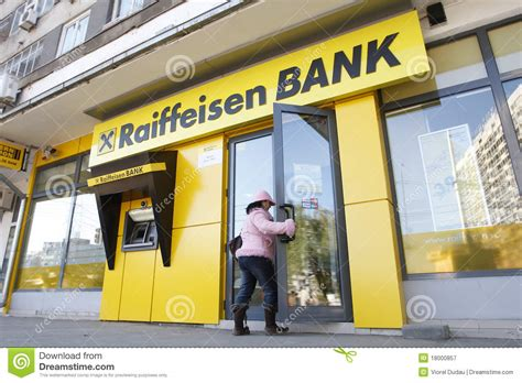 reifaisen bank raiffeisen bank editorial photography image 18000857
