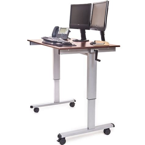 Adjustable Stand Up Workstation by Luxor Standup Cf48 Dw 48 Quot Crank Adjustable Stand Up