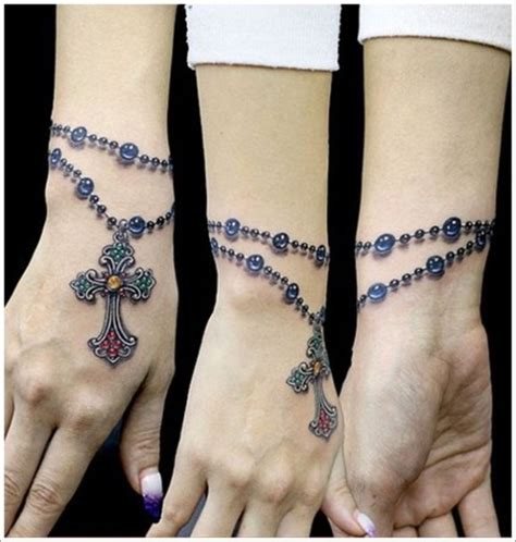 cross bracelet tattoo 41 all around wrist tattoos