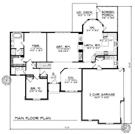 2200 square feet traditional style house plan 2 beds 2 baths 2200 sq ft