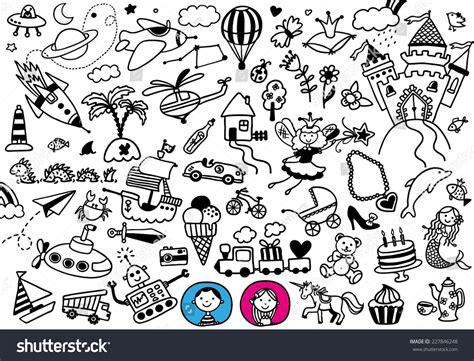 doodle boy handdrawn doodle boys dreams stock vector 227846248