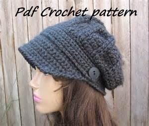 Crochet pattern crochet hat newsboy hat crochet pattern pdf easy