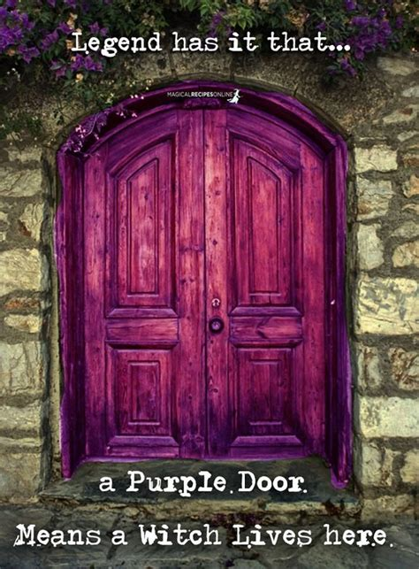 purple door meaning a purple door means a witch lives here l pinterest