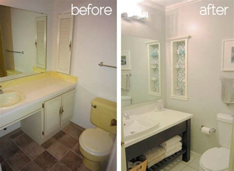 small bathroom remodel before and after click here to