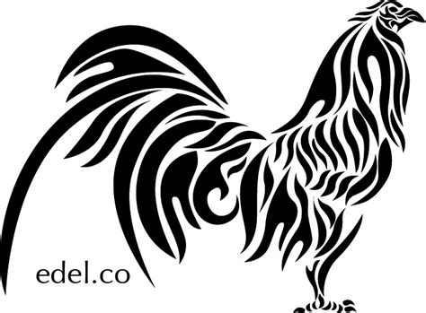 black and white rooster wallpaper rooster peleador by edelart on deviantart