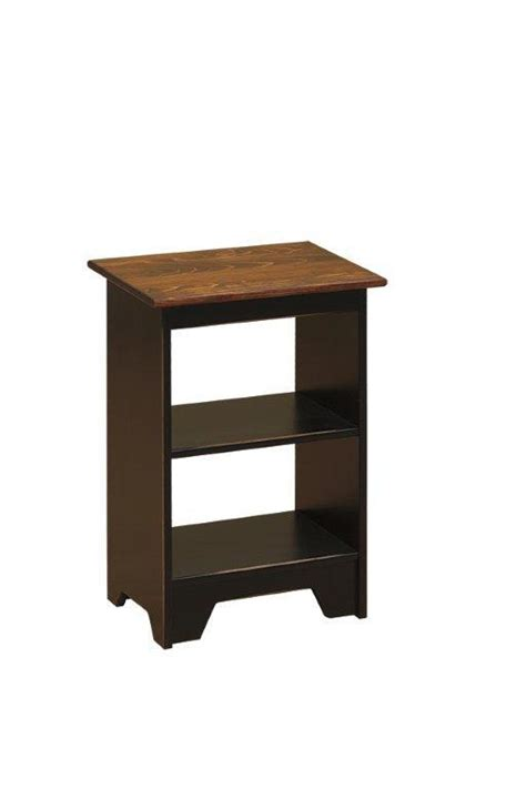 small accent tables wood amish pine wood small open end table
