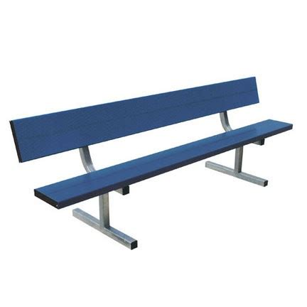 aluminum sport benches 21 heavy duty portable aluminum bench with back