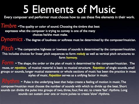 elements music matt s music blog 187 blog archive 187 5 elements of music