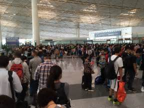 big line big lines at beijing immigration on the airport