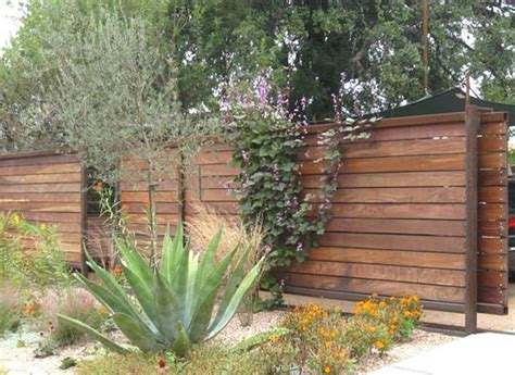 modern fence inspiration modern fences austin apartment therapy