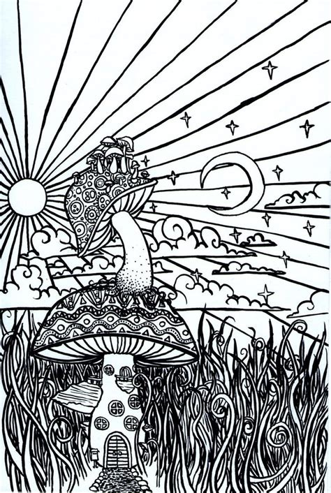 psychedelic sun coloring pages pesquisa do google