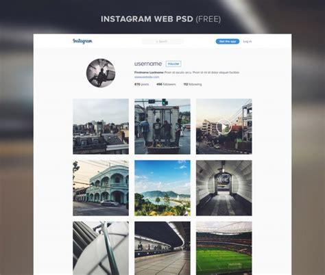 instagram black layout instagram website template free psd download download psd