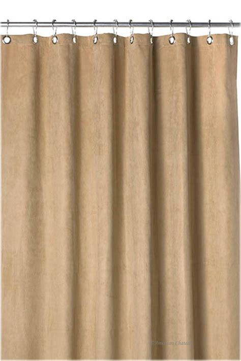 Tan Sand Faux Suede Water Resistant Fabric Bath Shower