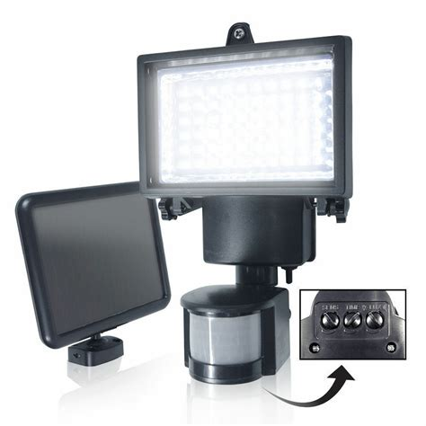 bright led solar powered sensor security flood light