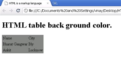 Html Table Background Color by Html Tables Background Color Image Search Results