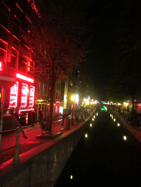 Light District by Amsterdam Light District Canal Amsterdam